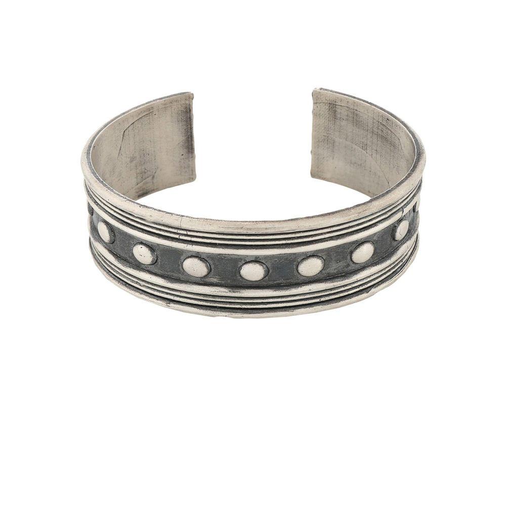 マリアーノ ィ ヴァイオ MARIANO DI VAIO メンズ ブレスレット ジュエリー・アクセサリー【light studs bracelet first people first bracelet】Silver