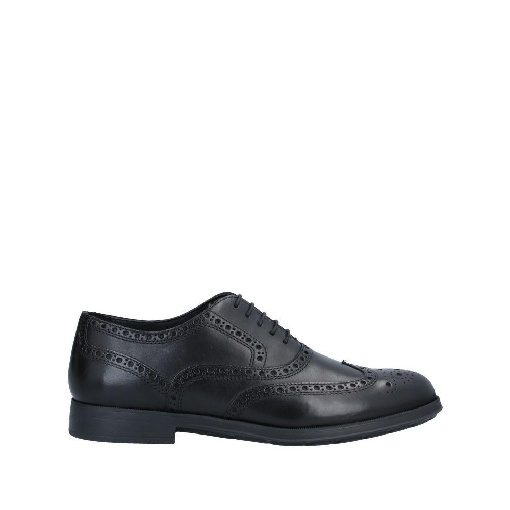 ジェオックス メンズ シューズ 靴 2020 その他シューズ Black shoes メーカー公式 GEOX サイズ交換無料 laced