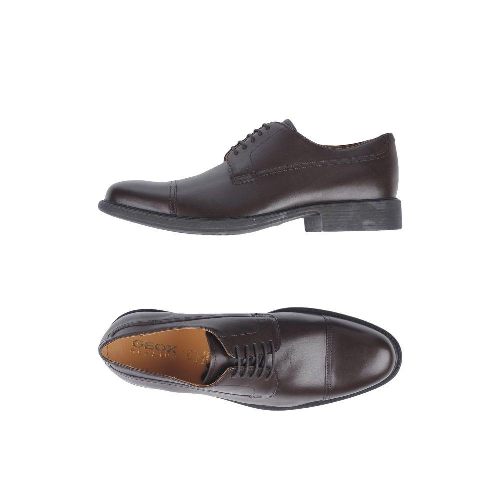 ジェオックス メンズ シューズ 靴 オープニング 大放出セール その他シューズ 送料込 Dark サイズ交換無料 shoes GEOX laced brown