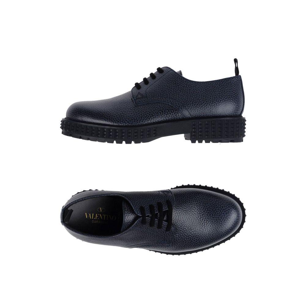 ヴァレンティノ VALENTINO GARAVANI メンズ シューズ・靴 【laced shoes】Dark blue