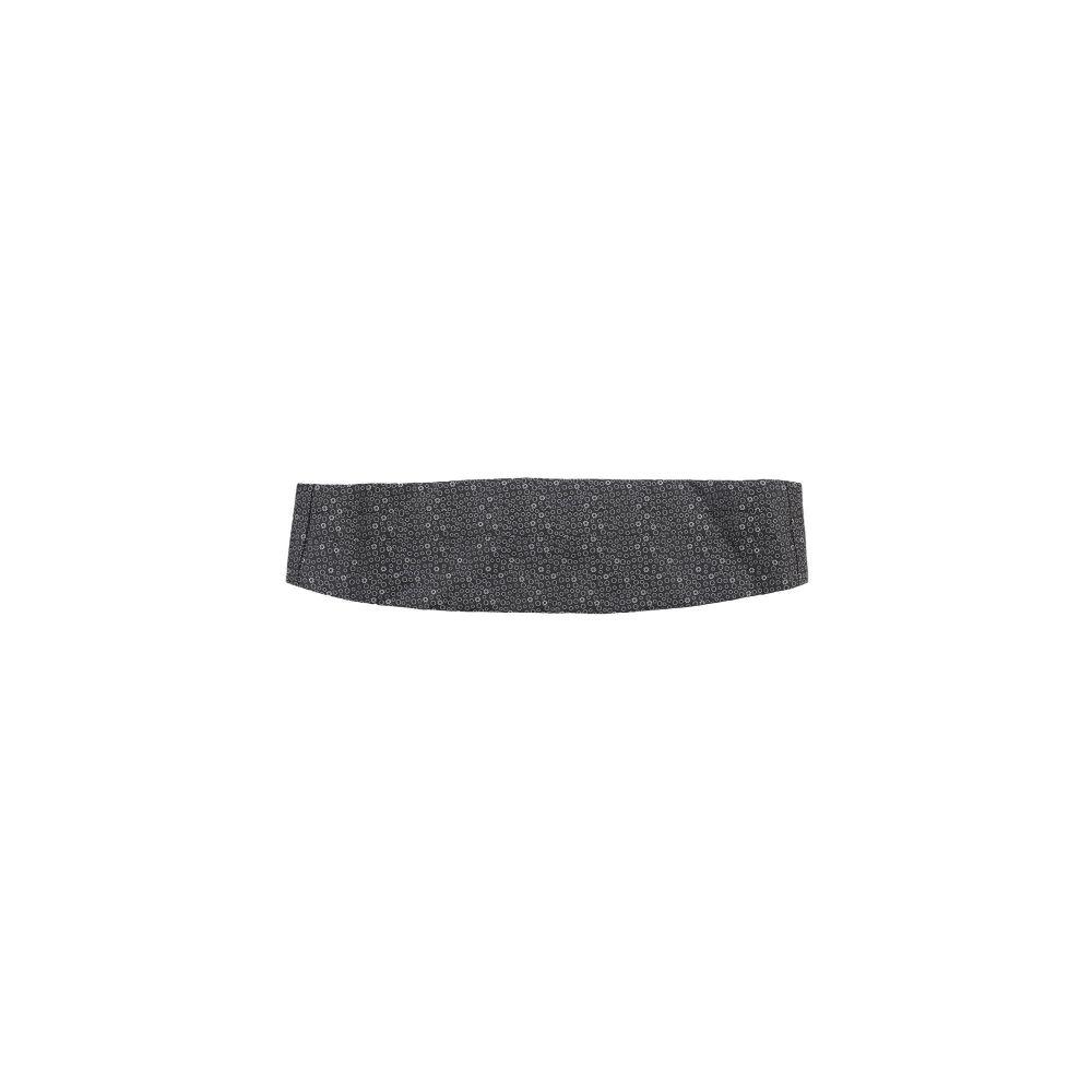 ZZEGNA メンズ ベルト 【fabric belt】Black