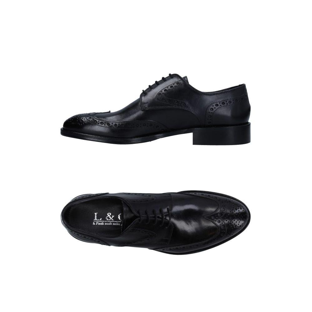 L&G メンズ シューズ・靴 【laced shoes】Black