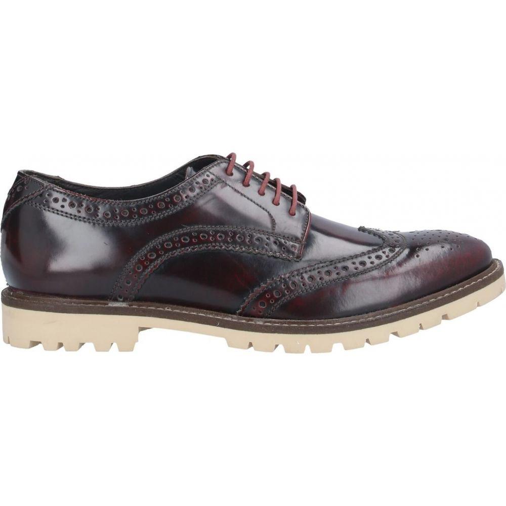 ベース ロンドン BASE London メンズ シューズ・靴 【laced shoes】Maroon