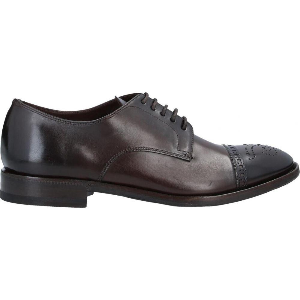 ヘンダーソン バラッコ HENDERSON BARACCO メンズ シューズ・靴 【laced shoes】Dark brown