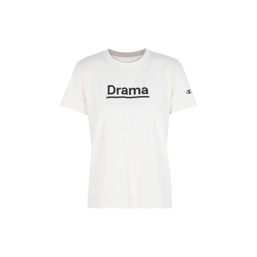 チャンピオン CHAMPION x WOOD WOOD レディース Tシャツ トップス【logo drama crewneck t-shirt】Ivory