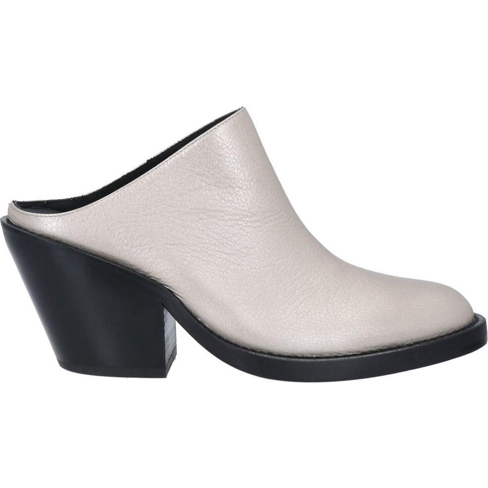 アンドゥムルメステール ANN DEMEULEMEESTER レディース サンダル・ミュール シューズ・靴【Mules And Clog】Silver