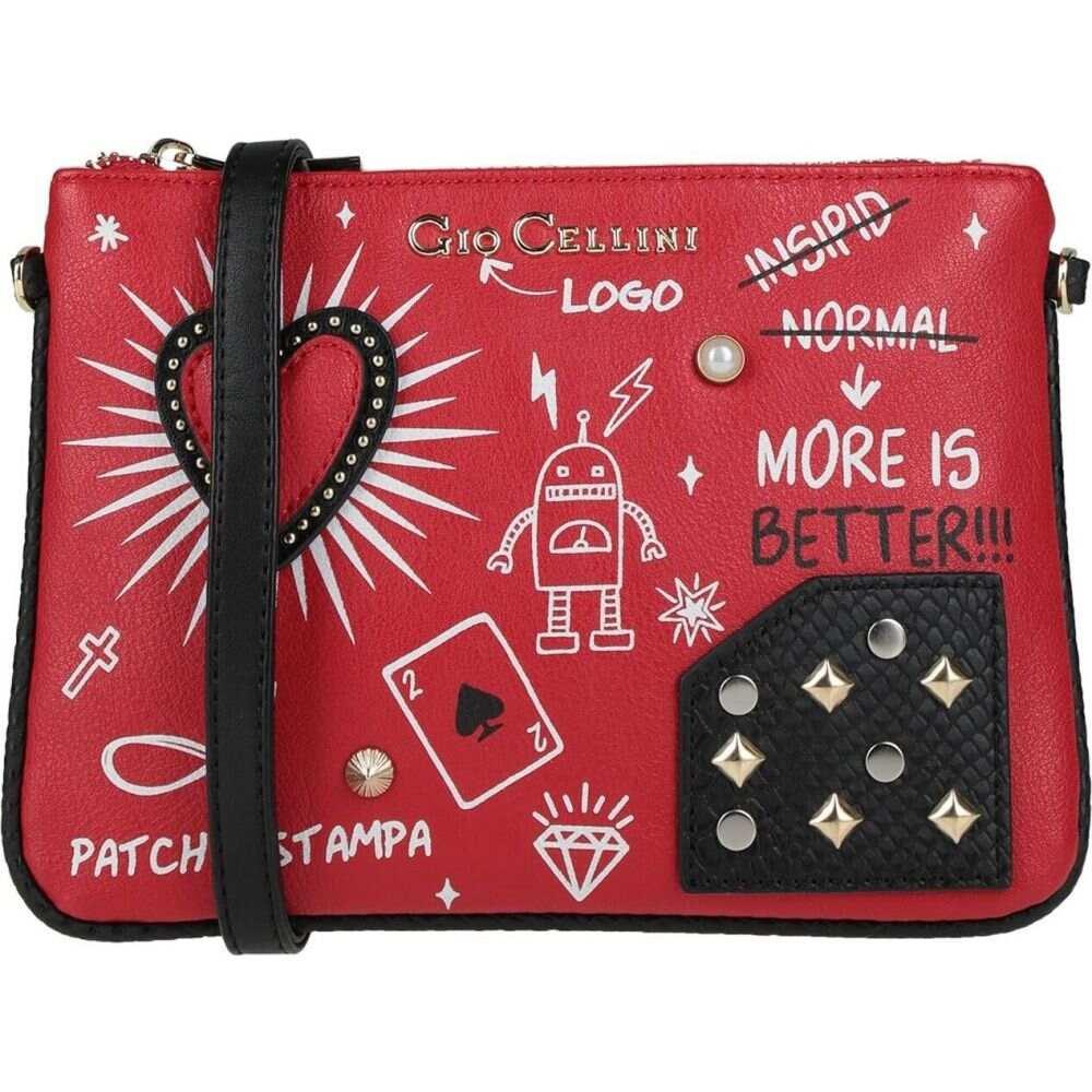 新色追加して再販 ジオチェリーニ レディース バッグ ショルダーバッグ Red サイズ交換無料 GIO MILANO 売り込み Cross-Body Bag CELLINI