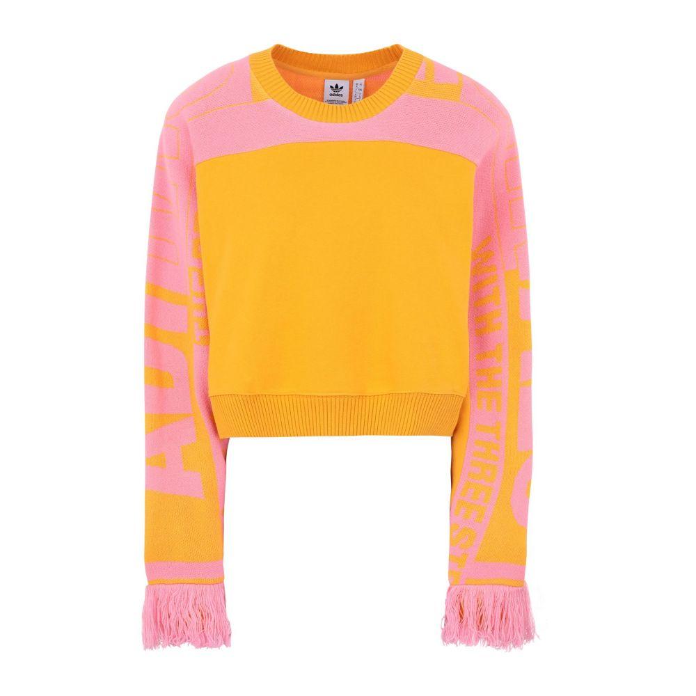 アディダス ADIDAS ORIGINALS レディース スウェット・トレーナー トップス【sweatshirt】Yellow