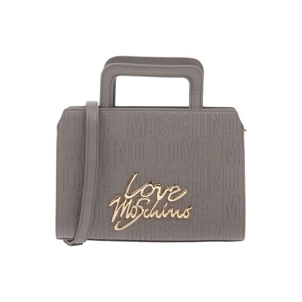 モスキーノ LOVE MOSCHINO 定番キャンバス レディース handbag バッグ ハンドバッグ Grey [宅送]