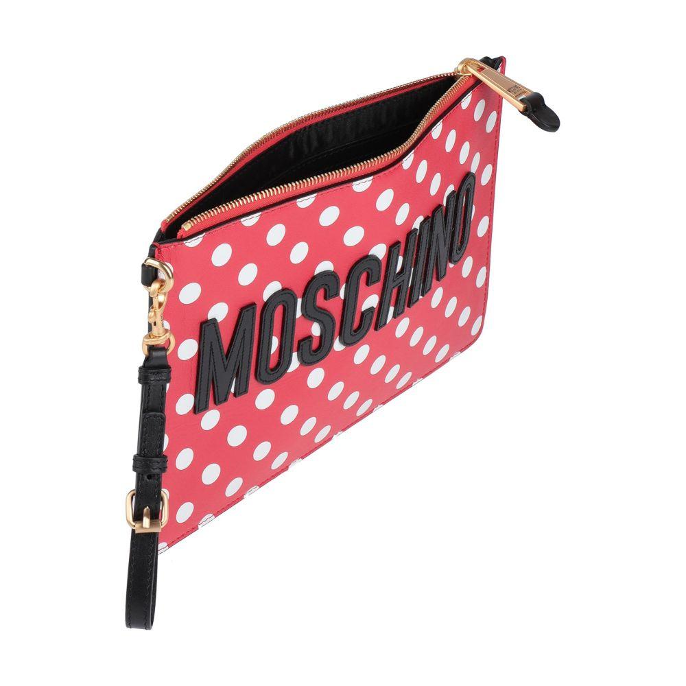 【お気にいる】 モスキーノ Moschino レディース ハンドバッグ バッグ【handbag】red クラッチ