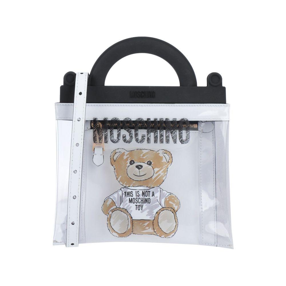 今季も再入荷 モスキーノ MOSCHINO レディース ハンドバッグ handbag Transparent 爆安プライス バッグ