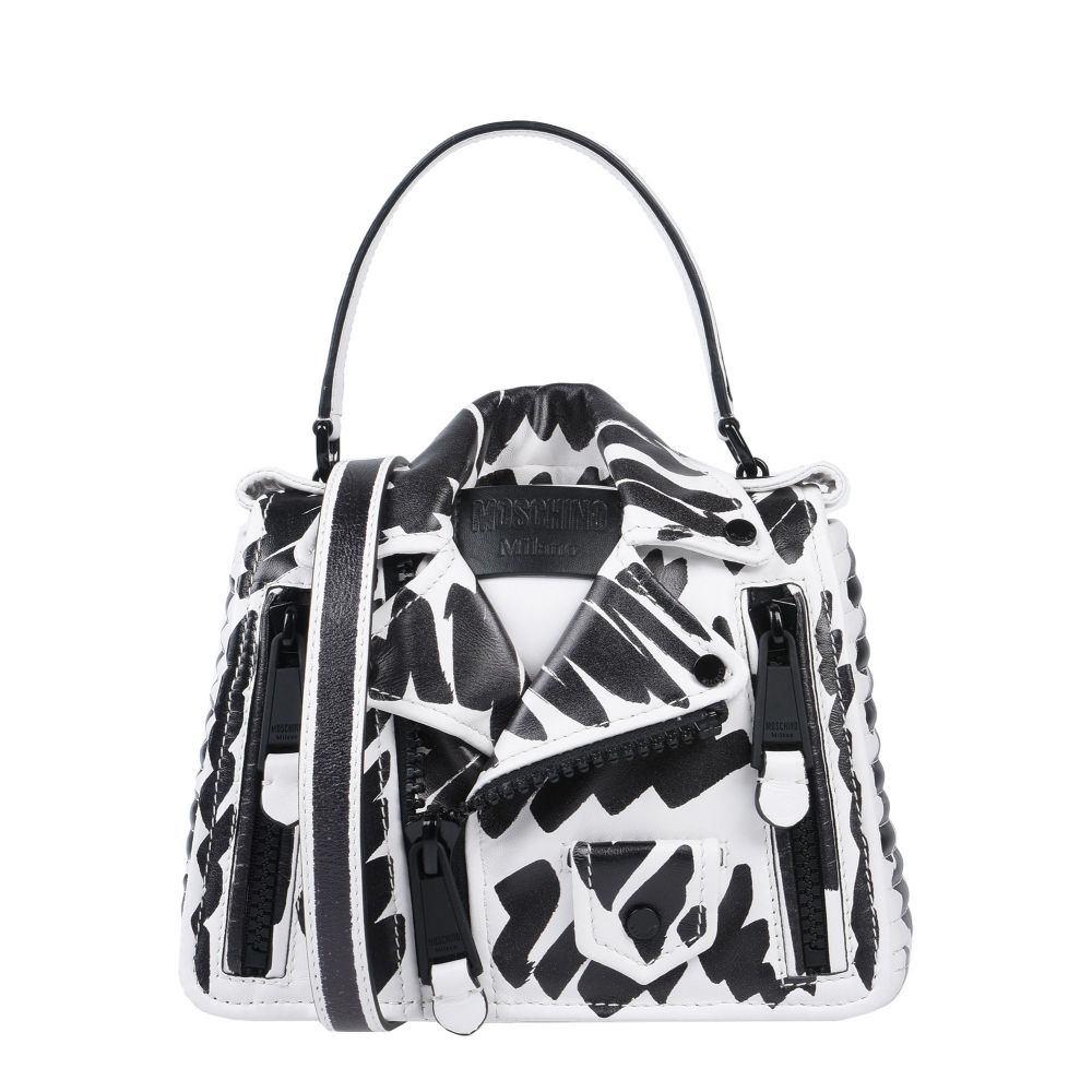 商品追加値下げ在庫復活 モスキーノ 日本産 MOSCHINO レディース ハンドバッグ White バッグ handbag