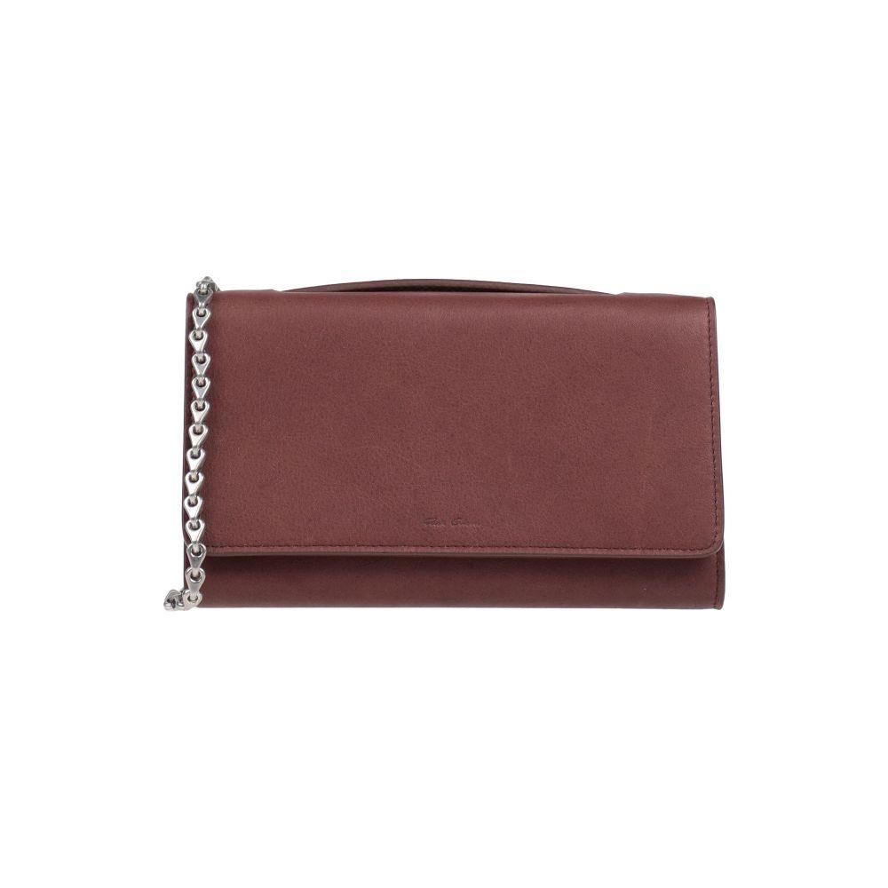 リック 日本正規代理店品 オウエンス RICK OWENS レディース 売買 バッグ handbag ハンドバッグ Brown