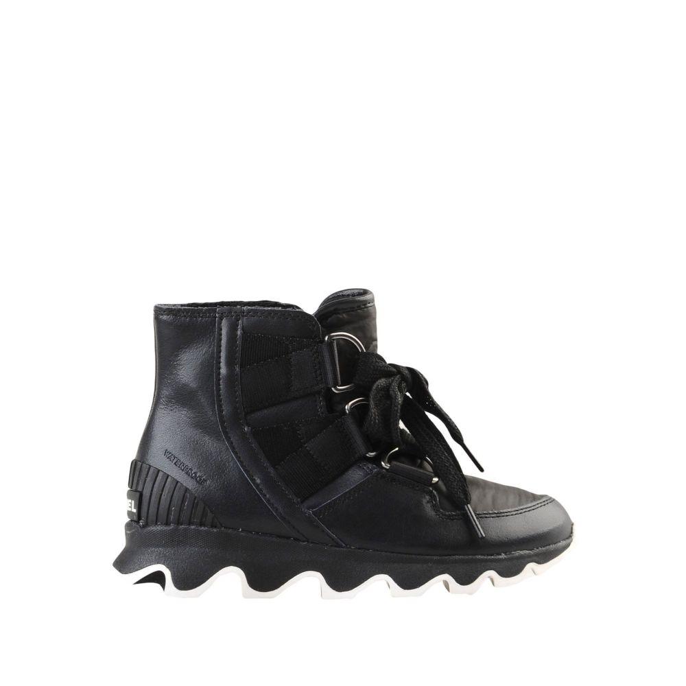 ソレル SOREL レディース ブーツ ショートブーツ シューズ・靴【kinetic short lace ankle boot】Black