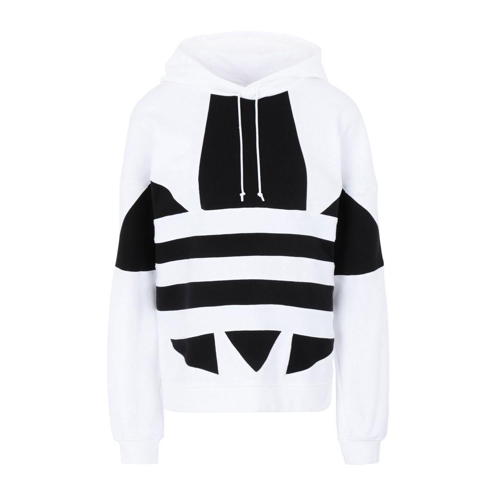 アディダス ADIDAS ORIGINALS レディース パーカー トップス【lrg logo hoodie】White