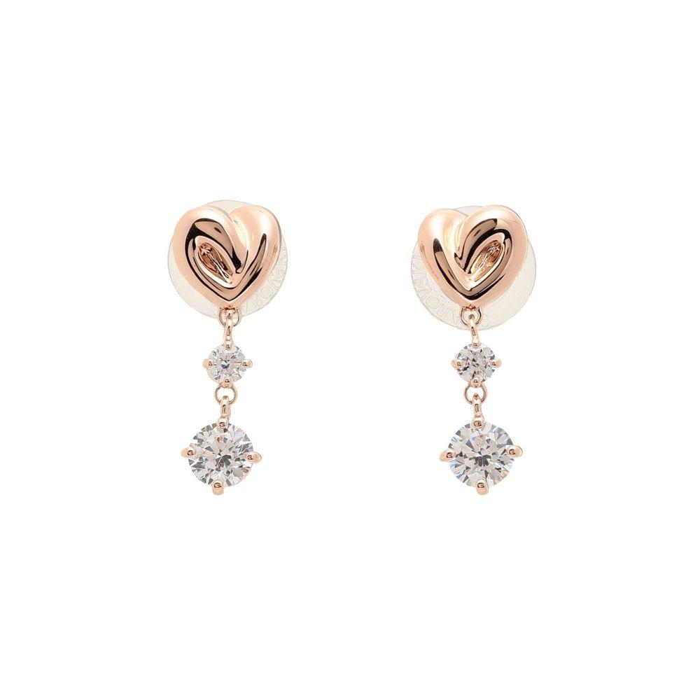 スワロフスキー SWAROVSKI レディース イヤリング・ピアス ドロップピアス ハート ジュエリー・アクセサリー【lifelong heart drop earrings】Copper