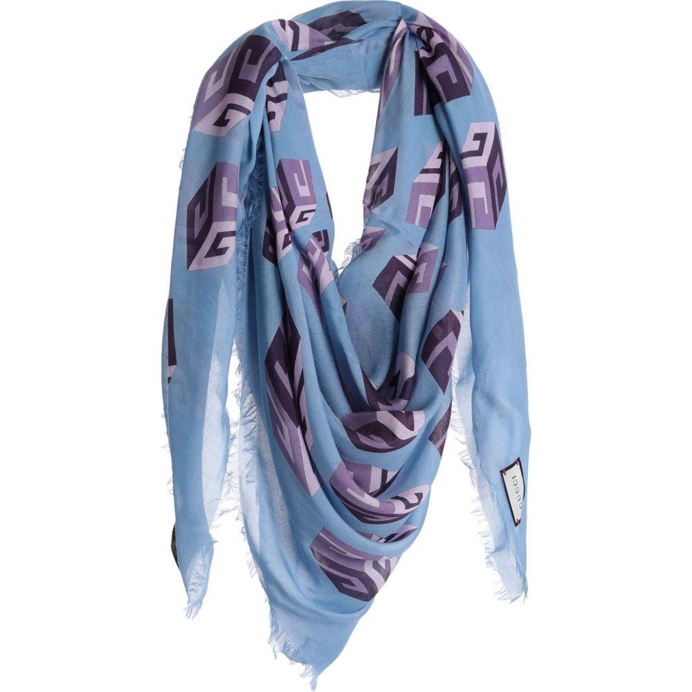 グッチ GUCCI レディース マフラー・スカーフ・ストール 【square scarf】Sky blue
