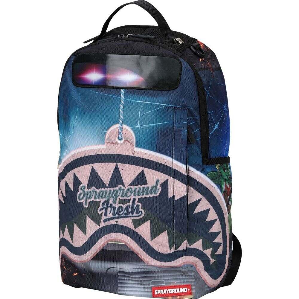 スプレイグラウンド SPRAYGROUND レディース バックパック・リュック バッグ【grand theft shark backpack】Blue
