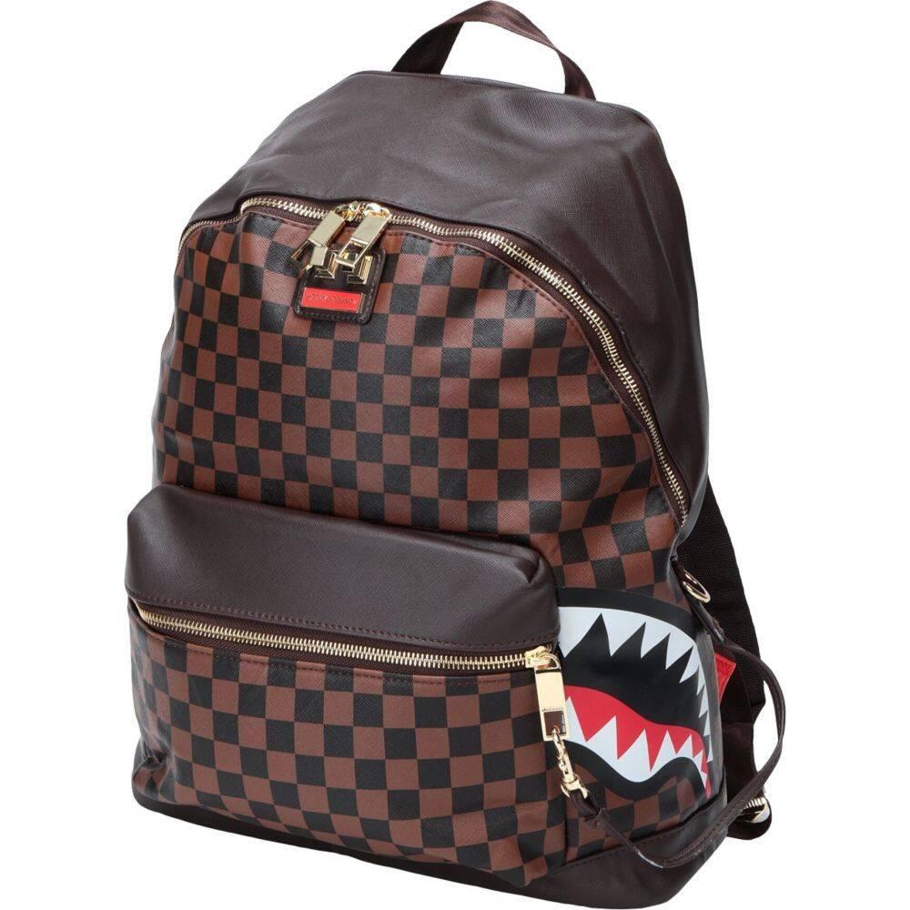 スプレイグラウンド SPRAYGROUND レディース バックパック・リュック バッグ【side sharks in paris backpack】Cocoa
