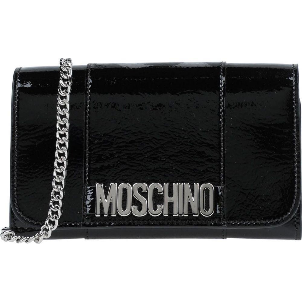 モスキーノ MOSCHINO レディース ハンドバッグ バッグ handbag Black 防災 引出物 当店では 卒業祝 無条件返品・交換