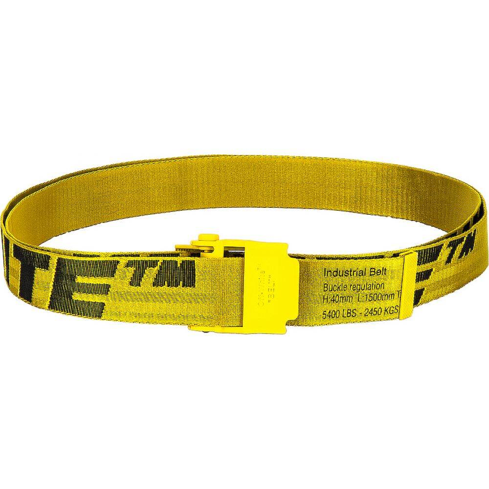 オフホワイト OFF-WHITE メンズ ベルト 【2.0 industrial belt】Yellow/Black