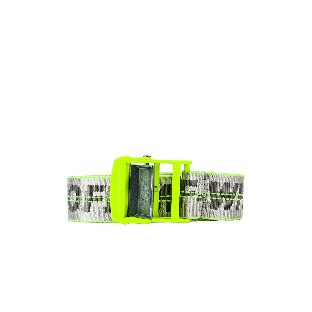 オフ-ホワイト OFF-WHITE メンズ ベルト【Industrial Belt】Flue Yellow & White