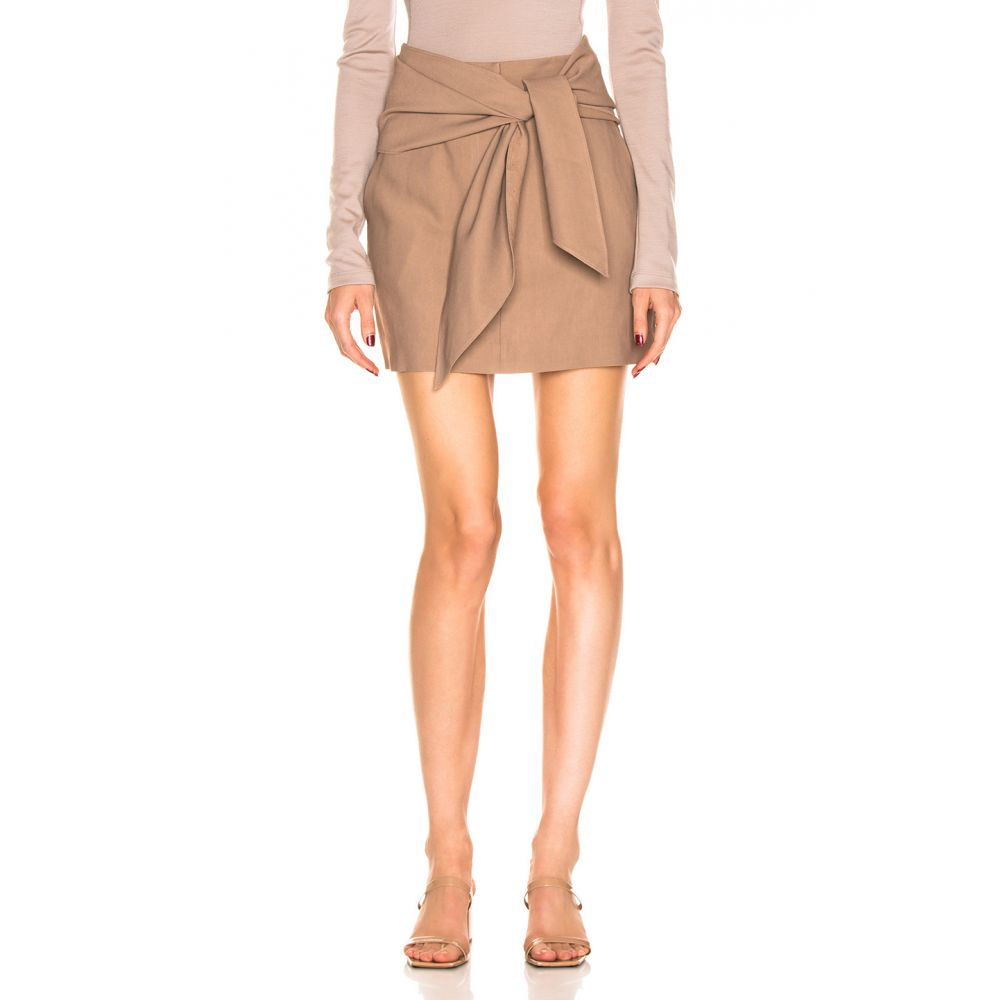 ティビ Tibi レディース スカート ミニスカート【Linen Suiting Skirt with Detachable Top】Sable Brown