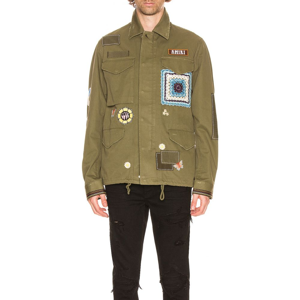 アミリ Amiri メンズ コート アウター【brother military short parka】Military Green