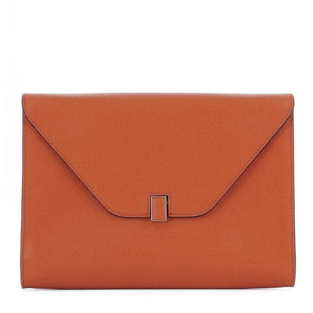 ヴァレクストラ レディース バッグ【Orange leather pochette】Orange