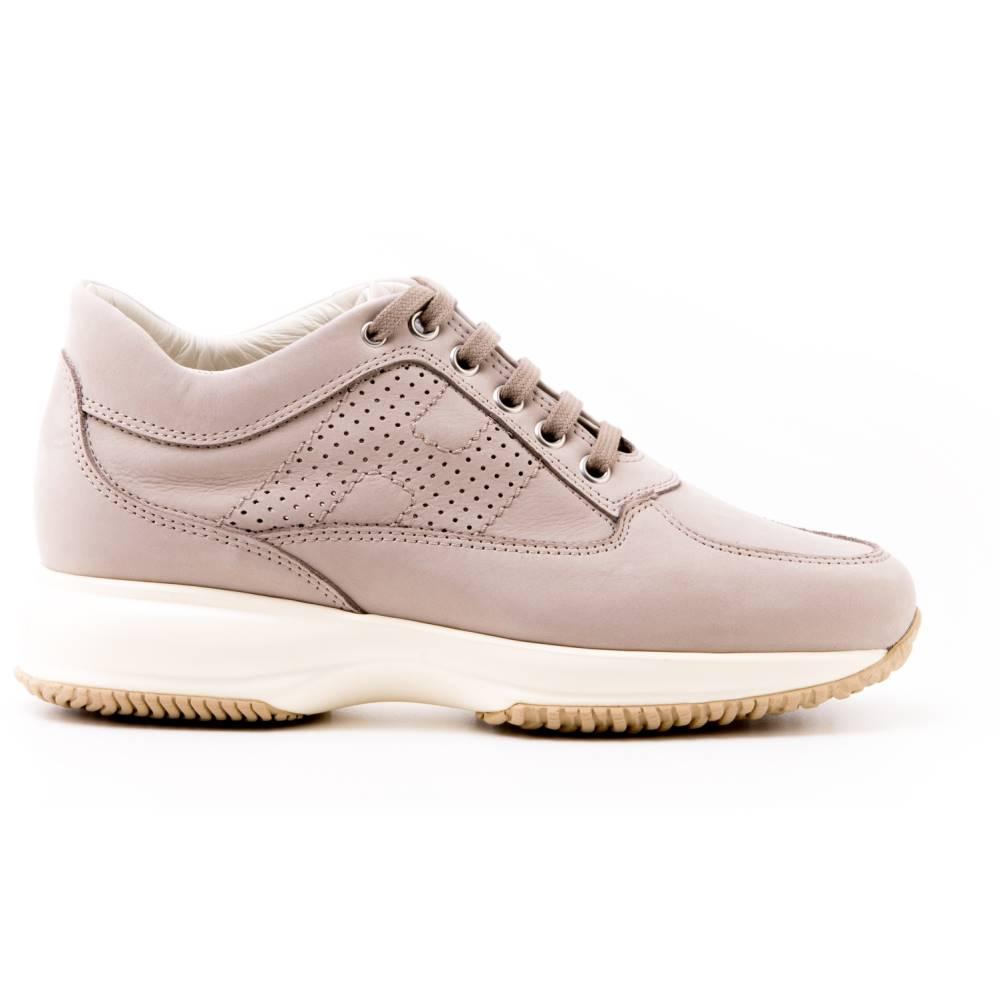 ホーガン レディース シューズ・靴 スニーカー【Hogan light grey leather Interactive sneakers】Grey