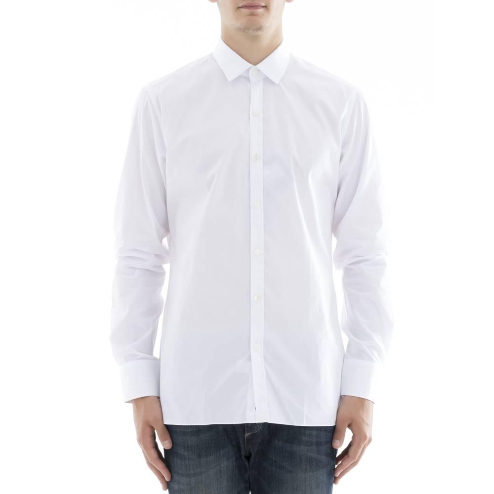 ランバン メンズ トップス シャツ【White cotton shirt】White