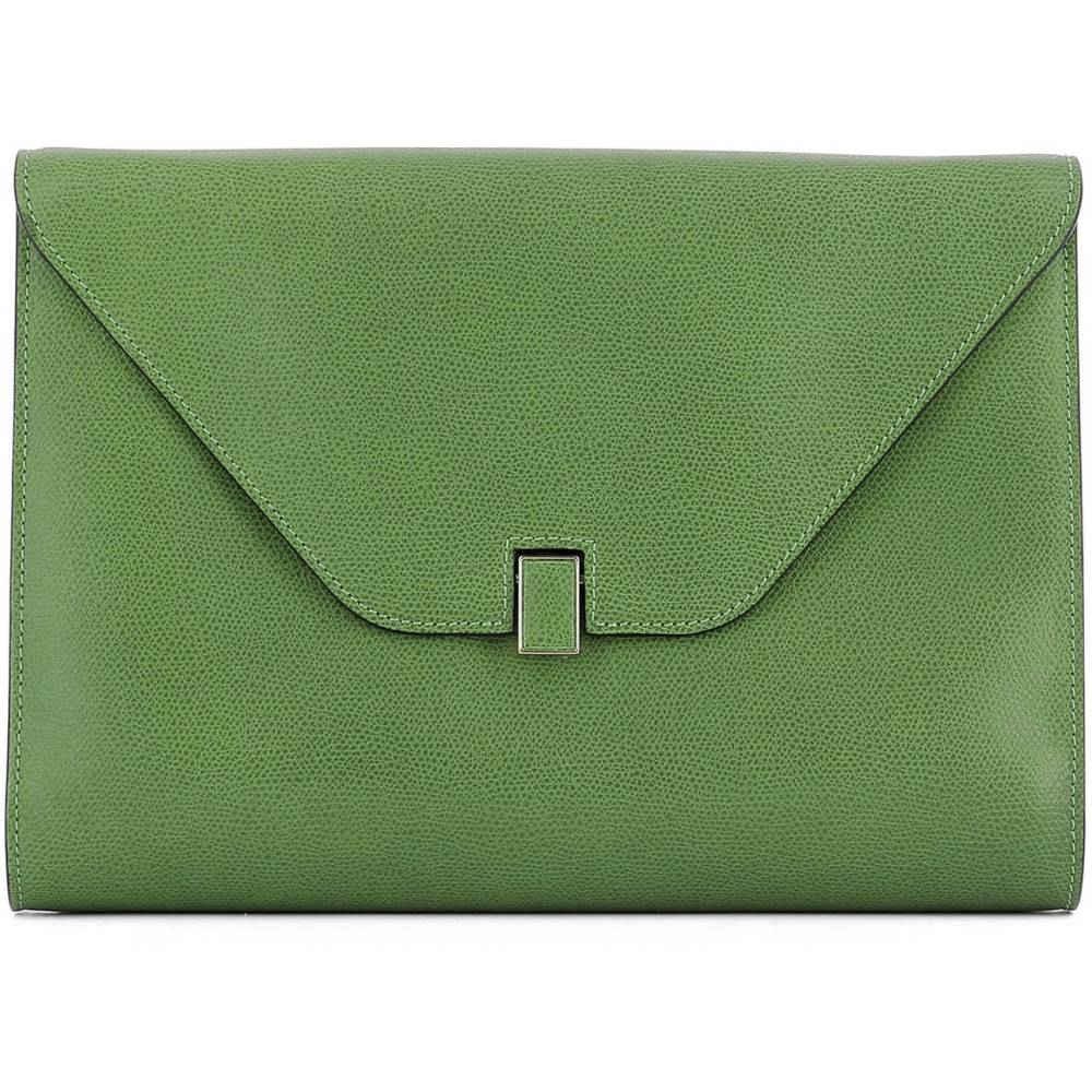 ヴァレクストラ レディース バッグ【Green leather pochette】Green