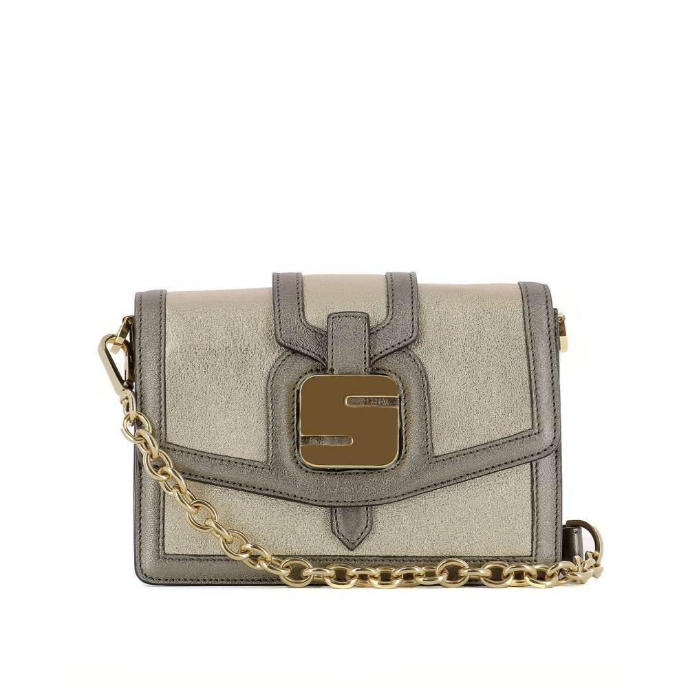 セラピアン Serapian レディース バッグ ショルダーバッグ【Gold leather shoulder bag】Gold