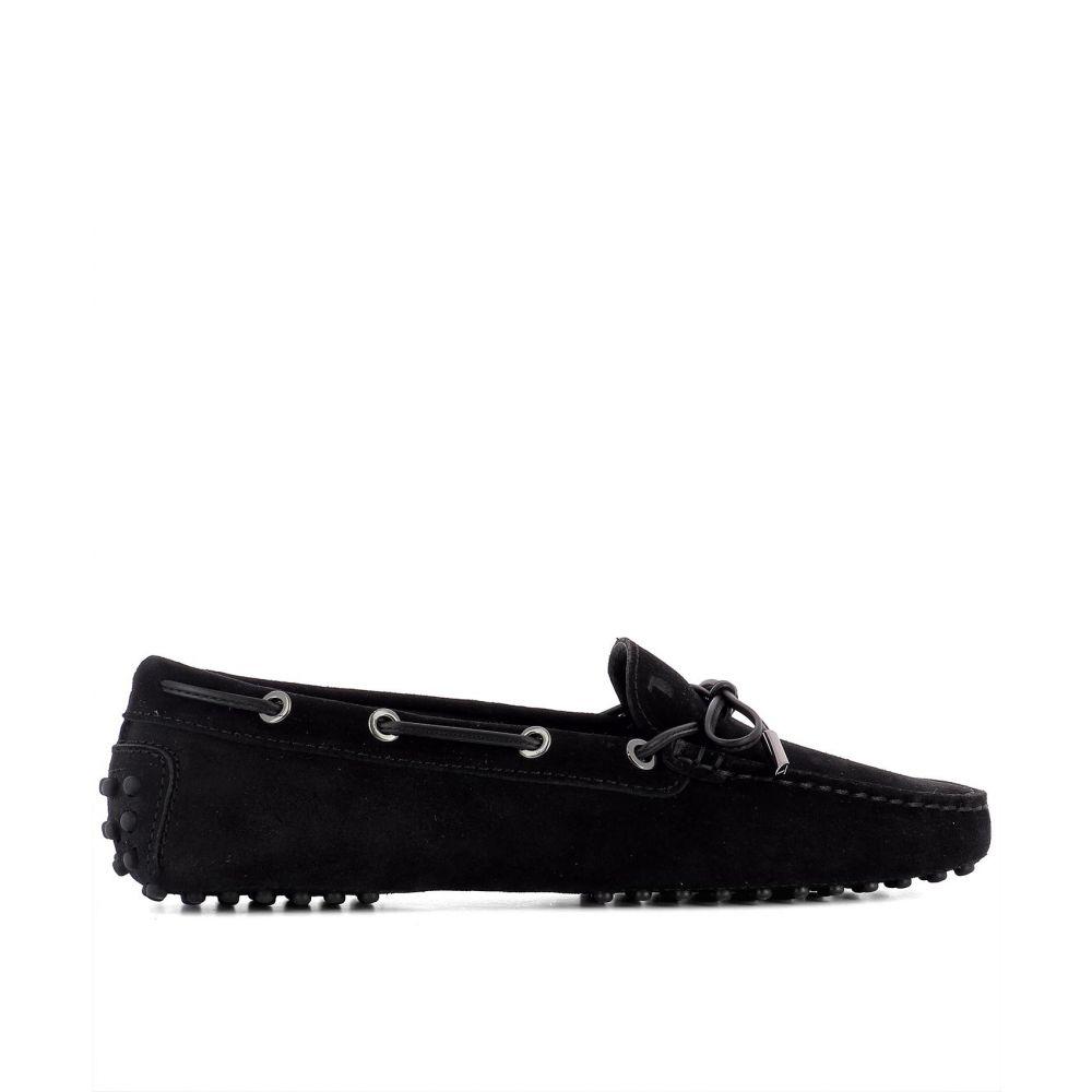 トッズ Tod's レディース シューズ・靴 ローファー・オックスフォード【Black suede loafers】Black
