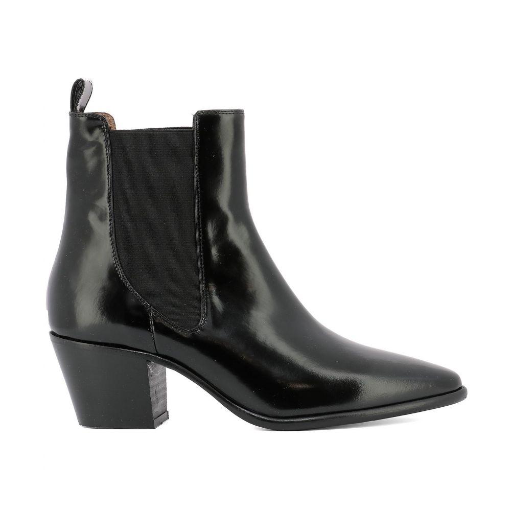 パリ テキサス Paris Texas レディース シューズ・靴 ブーツ【Black leather ankle boots】Black