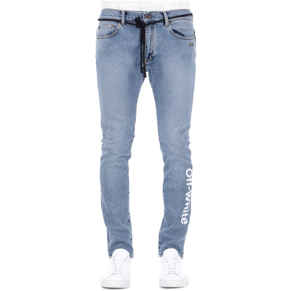 オフホワイト Off-White c/o Virgil Abloh メンズ ボトムス・パンツ ジーンズ・デニム【Blue cotton jeans】Blue