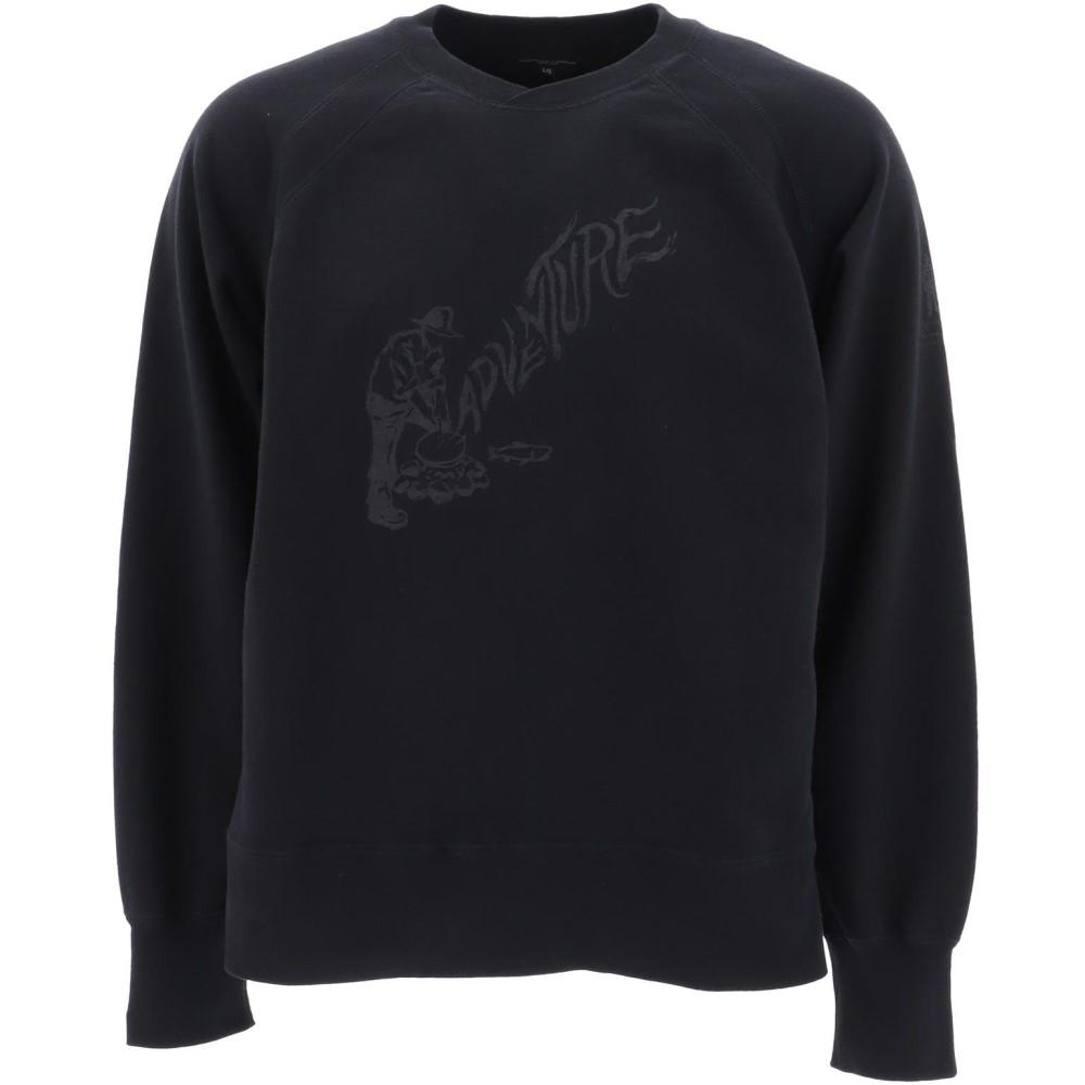 エンジニアードガーメンツ Engineered Garments メンズ トップス スウェット・トレーナー【Black cotton sweatshirt】Black