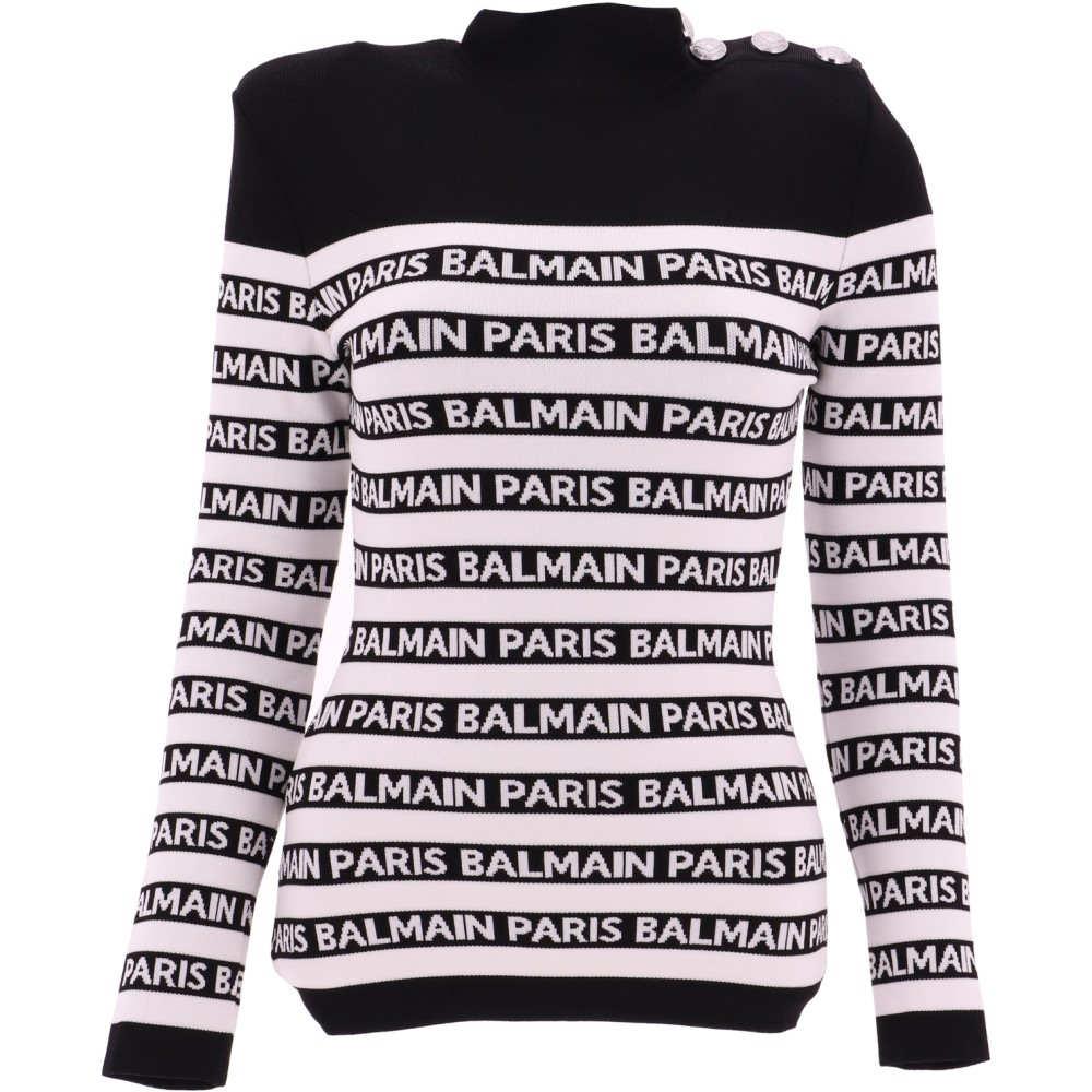 バルマン Balmain レディース トップス ニット・セーター【Multicolour viscose turtleneck sweater】Multicolor