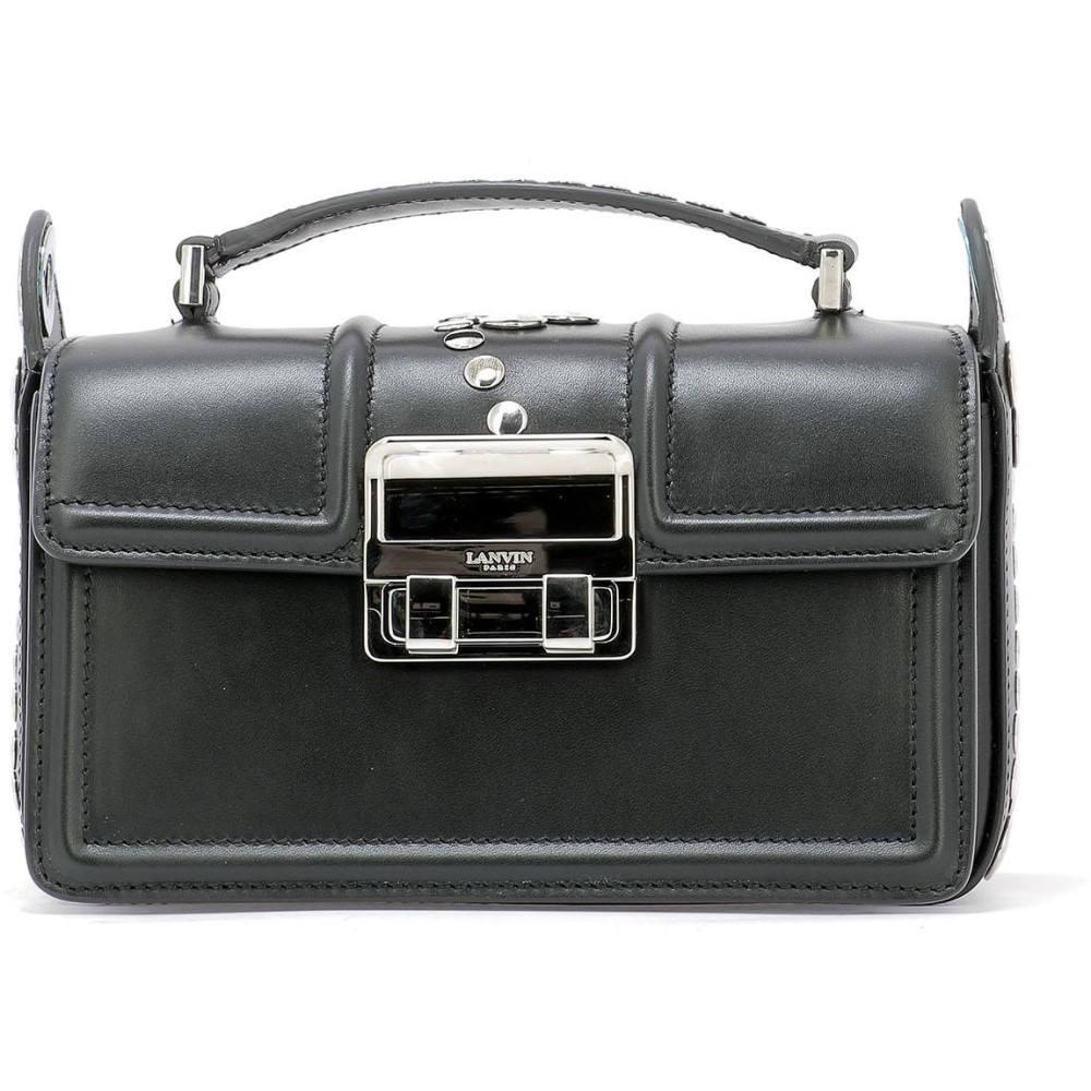 ランバン Lanvin レディース バッグ bag】Black ハンドバッグ ランバン【Black レディース leather handle bag】Black, カーテンインテリア シロヤマ:eab496a2 --- sunward.msk.ru