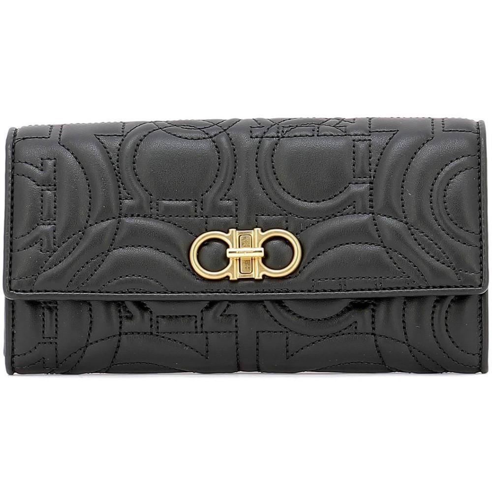 サルヴァトーレ フェラガモ Salvatore Ferragamo レディース 財布【Black leather wallet】Black