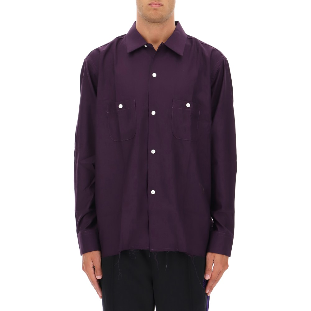 ニードルズ Needles メンズ トップス シャツ【Purple polyester shirt】Purple