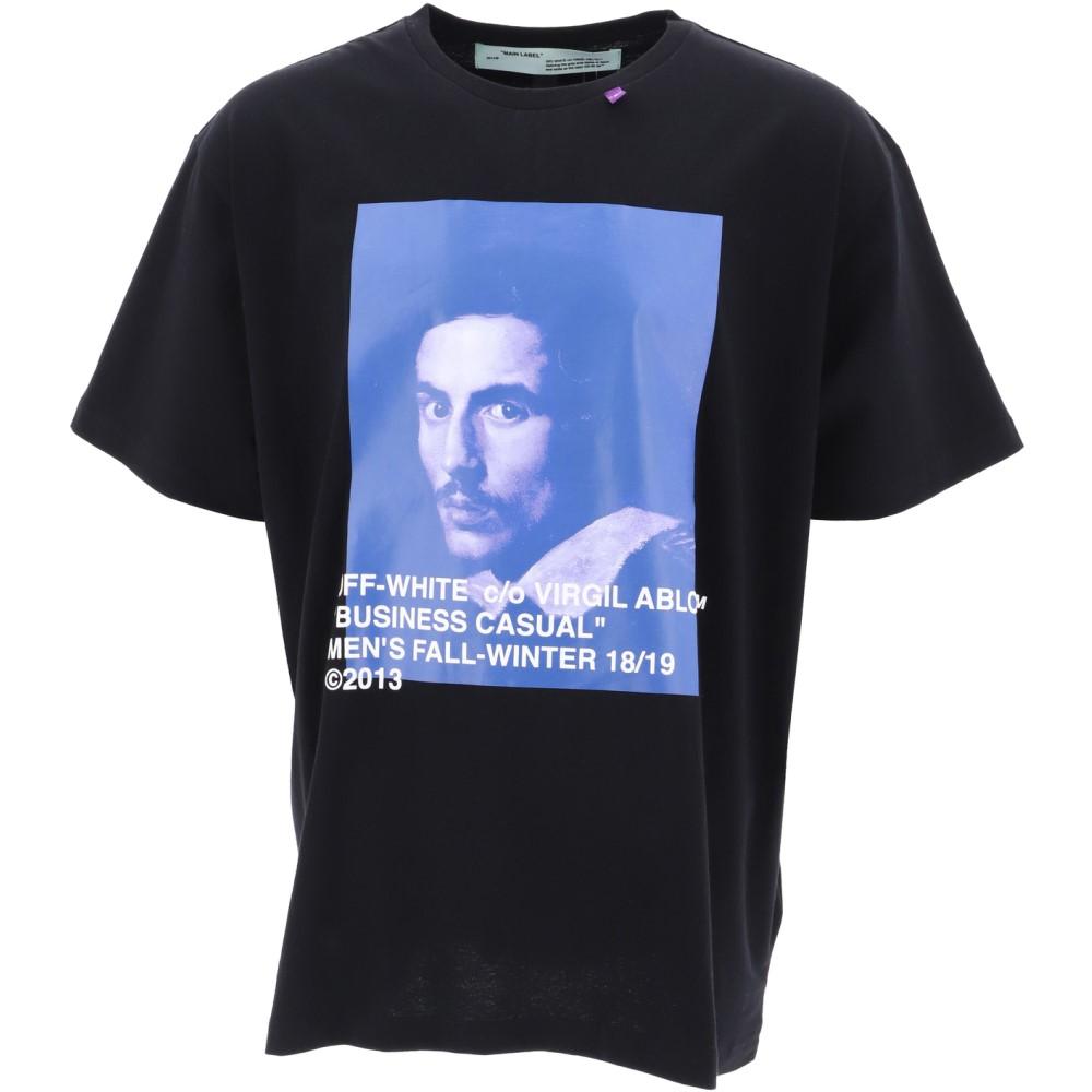 オフホワイト Off-White c/o Virgil Abloh メンズ トップス Tシャツ【Black cotton T-shirt】Black
