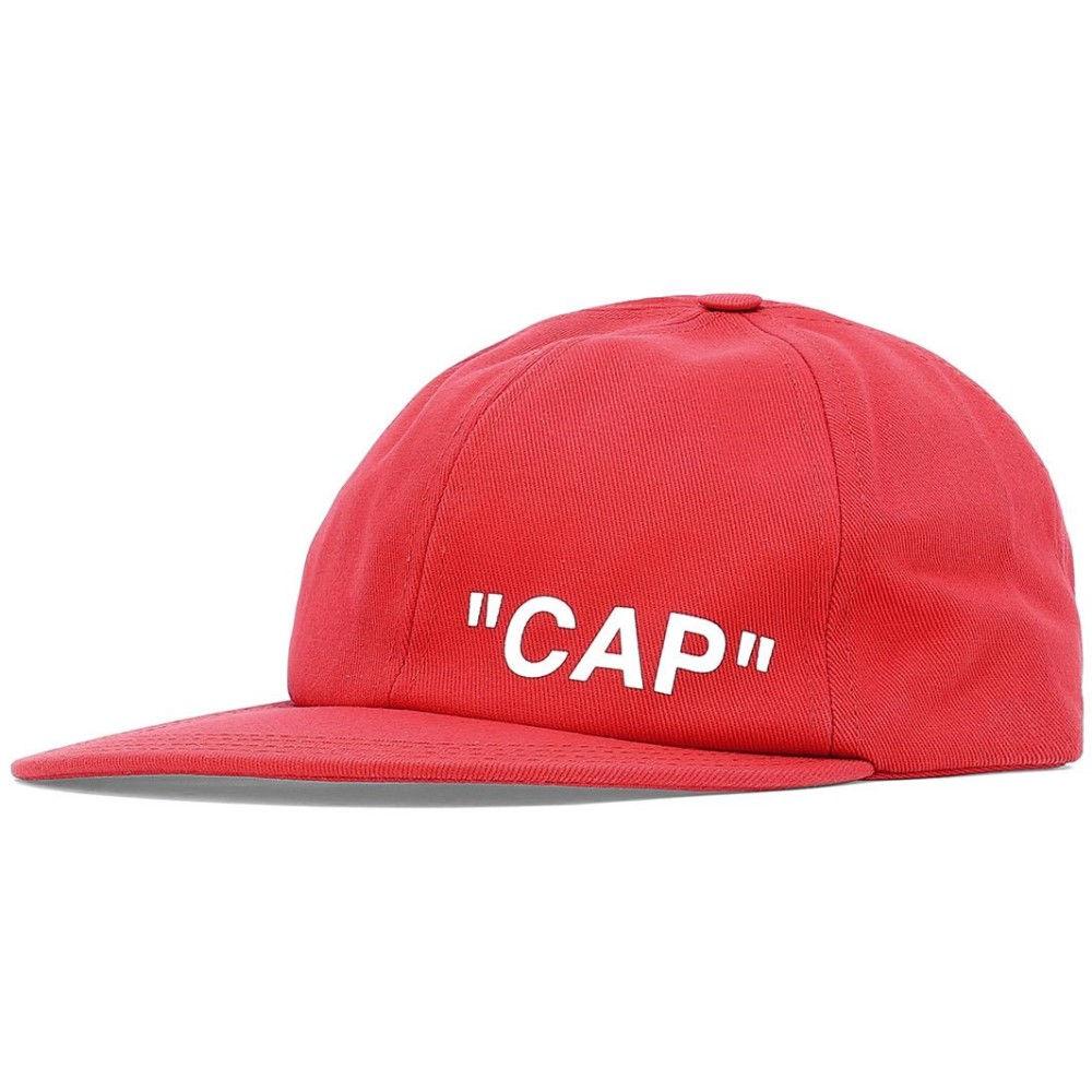 オフホワイト Off-White c/o Virgil Abloh メンズ 帽子【Red cotton hat】Red
