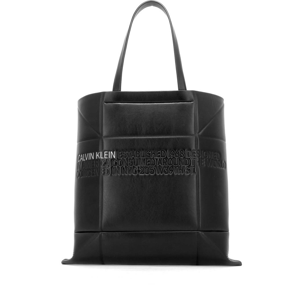 グランドセール カルバンクライン Calvin Klein 205W39NYC レディース バッグ トートバッグ【Black Klein leather 205W39NYC バッグ shopper】Black, ヒロオチョウ:6665aa23 --- newplan.com
