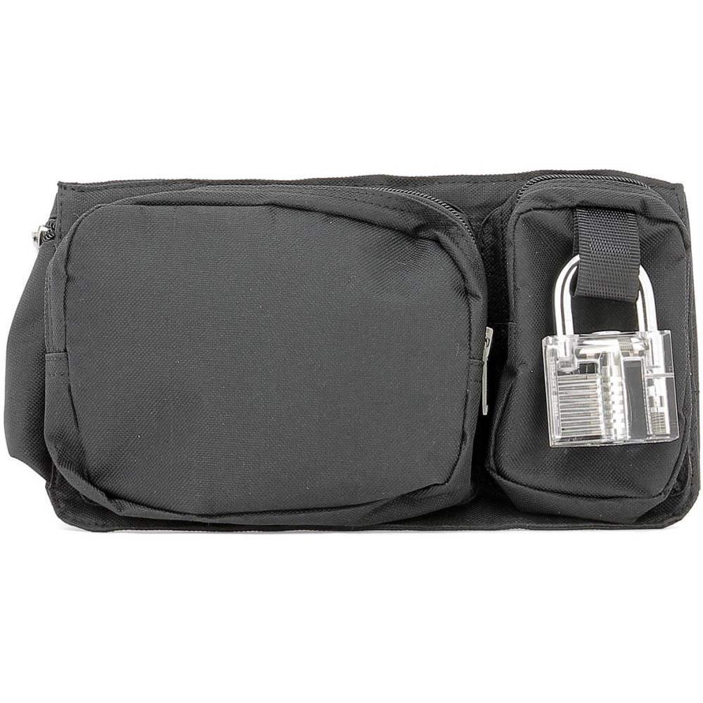 エリオットエミル Heliot Emil メンズ バッグ ボディバッグ・ウエストポーチ【Black fabric waist bag】Black