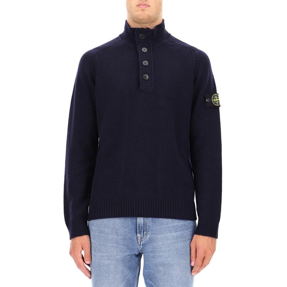 ストーンアイランド Stone Island メンズ トップス ニット・セーター【Blue wool sweater】Blue