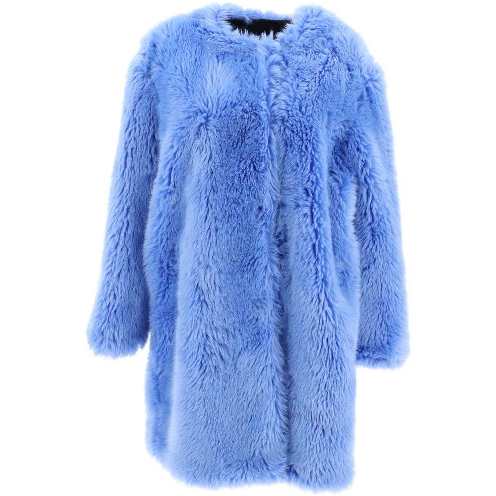 エムエスジーエム Msgm レディース アウター コート【Light blue faux fox fur coat】Light blue