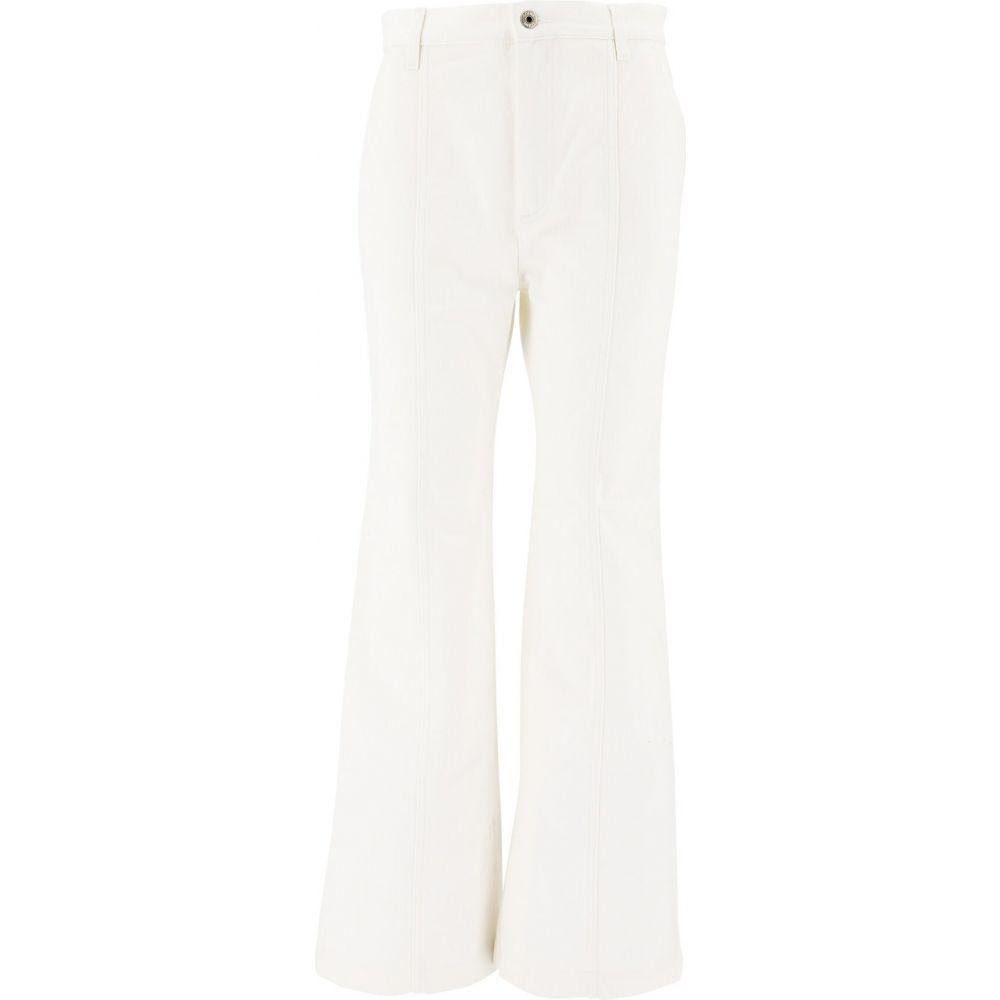 ロエベ Loewe レディース ジーンズ・デニム ボトムス・パンツ【Denim Pants With Slit】White