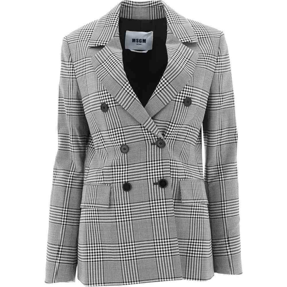 エムエスジーエム Msgm レディース ジャケット ダブルブレストジャケット アウター【Double-Breasted Tweed Jacket】Gray