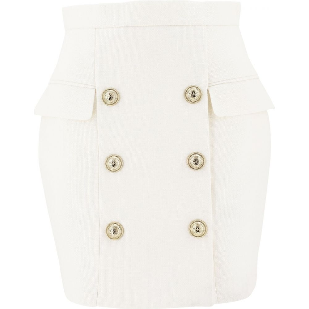 バルマン Balmain レディース スカート 【Skirt With Embossed Buttons】White
